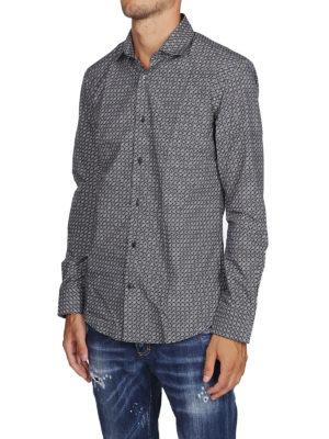 SALVATORE FERRAGAMO: camicie online - Camicia in popeline di cotone stampa logo