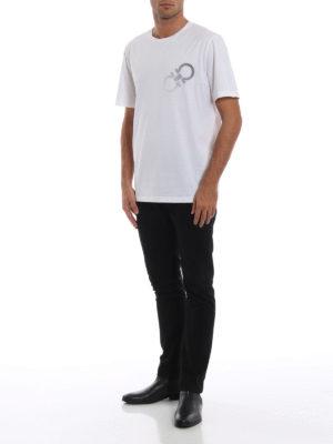 SALVATORE FERRAGAMO: t-shirt online - T-shirt girocollo bianca con doppio Gancio