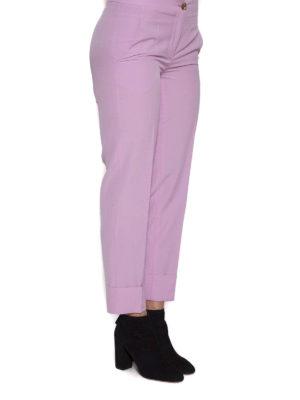 SALVATORE FERRAGAMO: Pantaloni sartoriali online - Pantaloni rosa in lana
