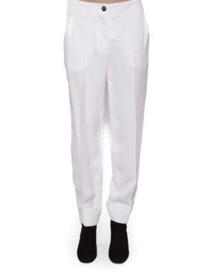 SALVATORE FERRAGAMO: Pantaloni sartoriali online - Pantaloni bianchi in cady