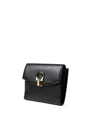 SALVATORE FERRAGAMO: portafogli online - Portafoglio Gancini piccolo nero