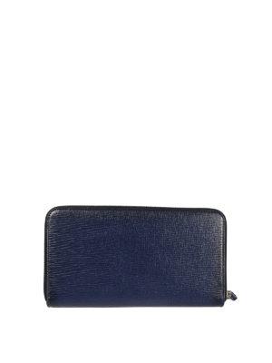 SALVATORE FERRAGAMO: portafogli online - Portafoglio Organizer blu a due zip