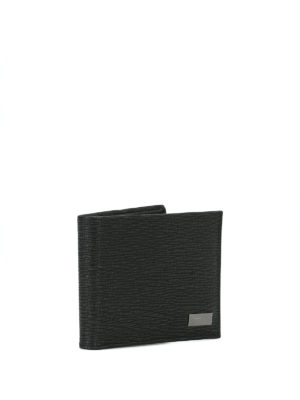 SALVATORE FERRAGAMO: portafogli online - Portafoglio bi-fold in pelle stampata