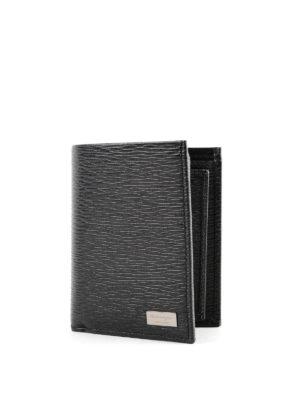 SALVATORE FERRAGAMO: portafogli online - Portafoglio nero Revival con porta documento