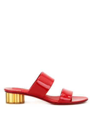 Salvatore Ferragamo: sandals - Belluno patent leather sandals