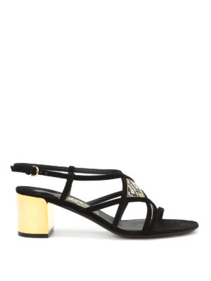 Salvatore Ferragamo: sandals - Emmy suede sandals