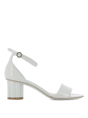 Salvatore Ferragamo: sandals - Eraclea patent leather sandals