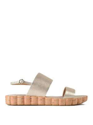 Salvatore Ferragamo: sandals - Lusia leather slide sandals