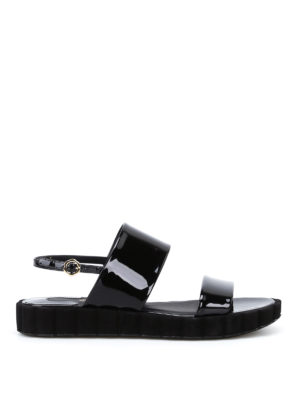 Salvatore Ferragamo: sandals - Lusia patent slide sandals