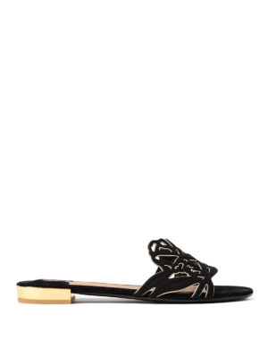 Salvatore Ferragamo: sandals - Milazzo suede slide sandals