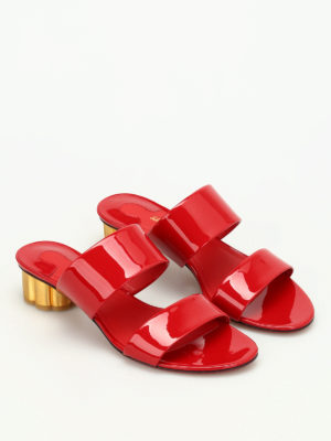 Salvatore Ferragamo: sandals online - Belluno patent leather sandals