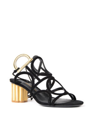 Salvatore Ferragamo: sandals online - Da Vinci double Gancio sandals