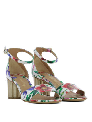 Salvatore Ferragamo: sandals online - Eraclea flower print sandals