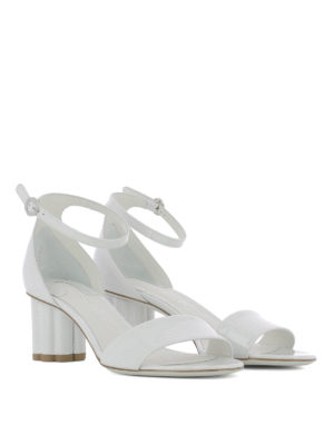 Salvatore Ferragamo: sandals online - Eraclea patent leather sandals