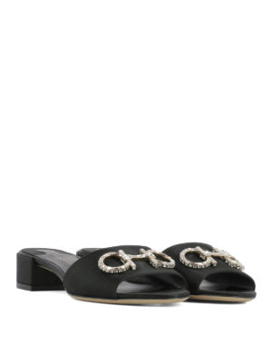 Salvatore Ferragamo: sandals online - Lampio satin sandals
