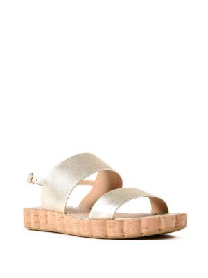 Salvatore Ferragamo: sandals online - Lusia leather slide sandals