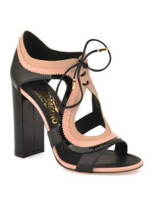 Salvatore Ferragamo: sandals online - Saffiano lace up sandals