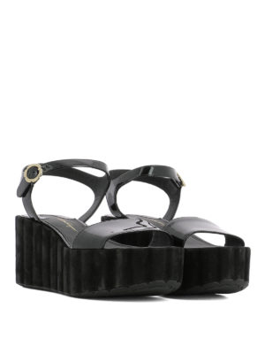 Salvatore Ferragamo: sandals online - Tropea patent leather sandals