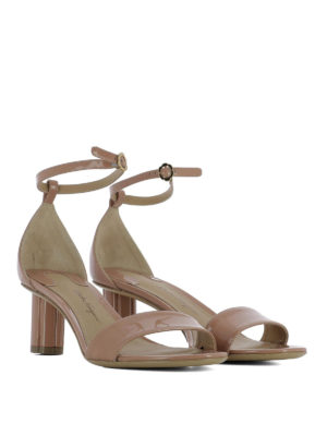 Salvatore Ferragamo: sandals online - Tursi patent leather sandals
