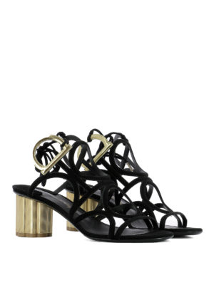 Salvatore Ferragamo: sandals online - Vinci suede sandals
