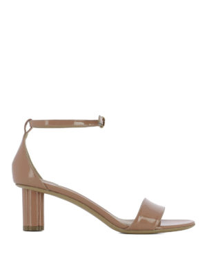 Salvatore Ferragamo: sandals - Tursi patent leather sandals