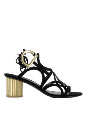 Salvatore Ferragamo: sandals - Vinci suede sandals