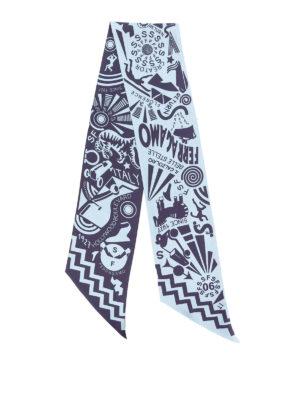 SALVATORE FERRAGAMO: sciarpe e foulard - Viaggio print Silk bandeau