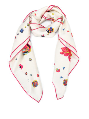 Salvatore Ferragamo: scarves - Chinese New Year print silk scarf