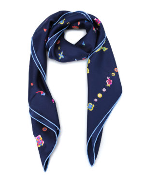 Salvatore Ferragamo: scarves - Chinese New Year printed silk scarf