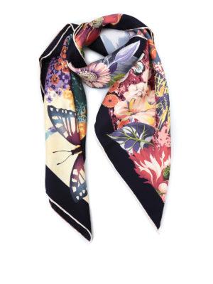 Salvatore Ferragamo: scarves - Dreamlike print silk twill scarf