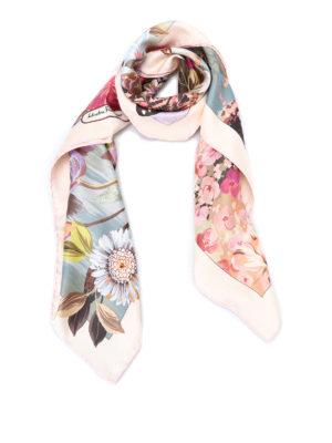 Salvatore Ferragamo: scarves - Dreamlike printed silk twill scarf