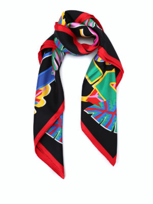 Salvatore Ferragamo: scarves - Gancini Tropical silk scarf