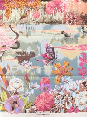 Salvatore Ferragamo: scarves online - Dreamlike printed silk twill scarf