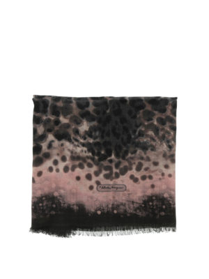 Salvatore Ferragamo: scarves online - Wool scarf with prints