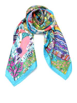 Salvatore Ferragamo: scarves - Printed silk foulard