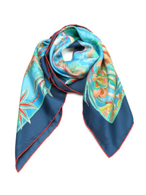 Salvatore Ferragamo: scarves - Sea voyage silk foulard