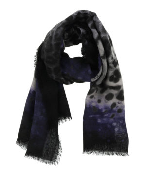 Salvatore Ferragamo: scarves - Wool scarf with prints