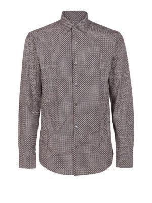 SALVATORE FERRAGAMO: camicie - Camicia in popeline di cotone con stampa logo