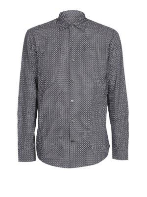 SALVATORE FERRAGAMO: camicie - Camicia in popeline di cotone stampa logo