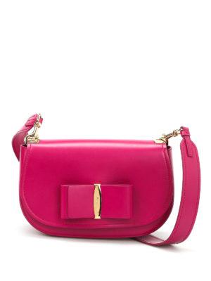Salvatore Ferragamo: shoulder bags - Brushed leather shoulder bag