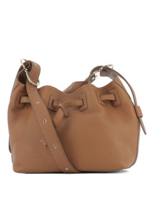 Salvatore Ferragamo: shoulder bags - Carla leather bag