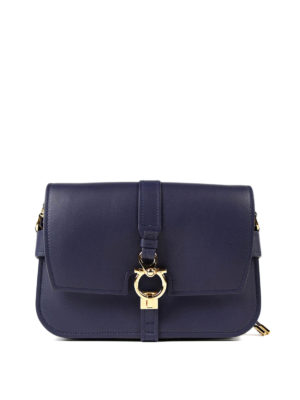 Salvatore Ferragamo: shoulder bags - Gancio leather shoulder strap