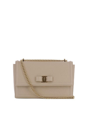 Salvatore Ferragamo: shoulder bags - Ginny texturized leather bag