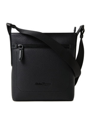 Salvatore Ferragamo: shoulder bags - Grainy leather messenger bag
