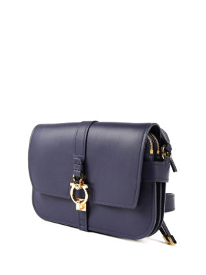 Salvatore Ferragamo: shoulder bags online - Gancio leather shoulder strap