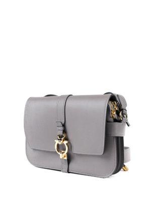Salvatore Ferragamo: shoulder bags online - Gancio leather shoulder strap