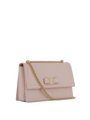 Salvatore Ferragamo: shoulder bags online - Ginny light pink leather bag