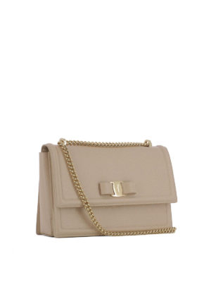 Salvatore Ferragamo: shoulder bags online - Ginny texturized leather bag