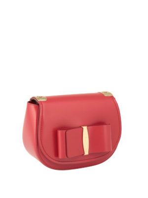 Salvatore Ferragamo: shoulder bags online - Vara bow small shoulder bag