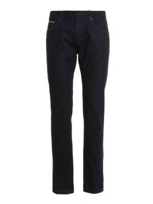 Salvatore Ferragamo: straight leg jeans - Denim classic jeans